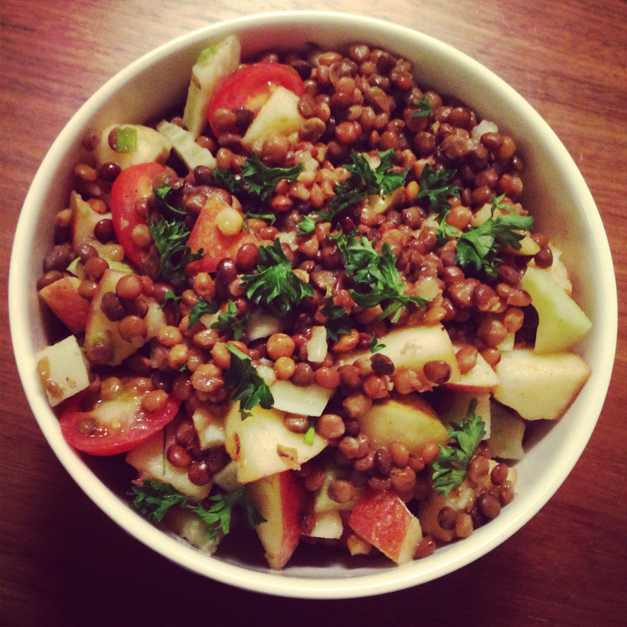 Marinated Lentil Salad with Apple and Fennel - recipes jewish food