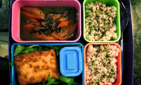 Marinated Tofu With Soy Dipping Sauce, Pearl Barley, Carrot & Sea Vegetable Medley, Rocket Salad – Vegetarian Recipes Japanese