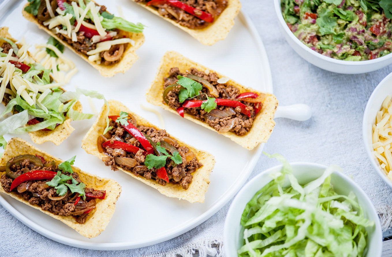 Matthew Tomkinson's Spicy Veggie Tacos With Guacamole - Tesco Recipes Vegetarian