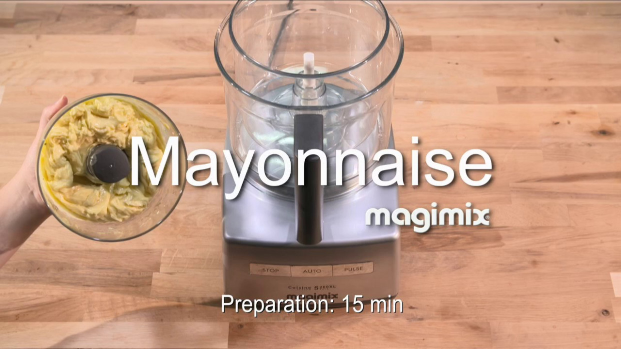 Mayonnaise - Recipe Food Processor Magimix EN - Recipes Using Food Processor