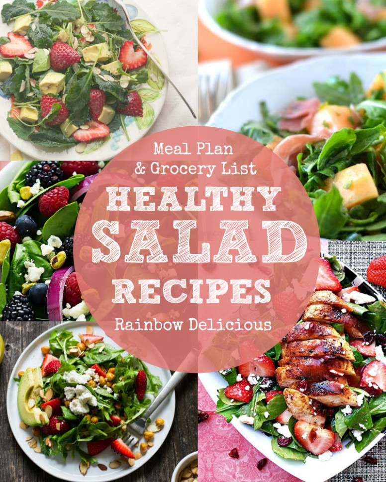 Meal Plan: A Week of Healthy Salad Recipes - Rainbow Delicious - healthy recipes list