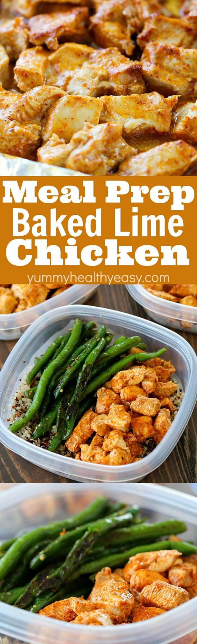 Meal Prep Baked Lime Chicken Bowls - dinner recipes you can prepare in advance