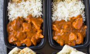 Meal Prep Butter Chicken With Rice And Garlic Naan | Gimme ..