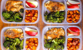 Meal Prep Lunch Bowls With Spicy Chicken, Roasted Lemon Broccoli, And  Caramelized Sweet Potatoes – Chicken Recipes Lunch