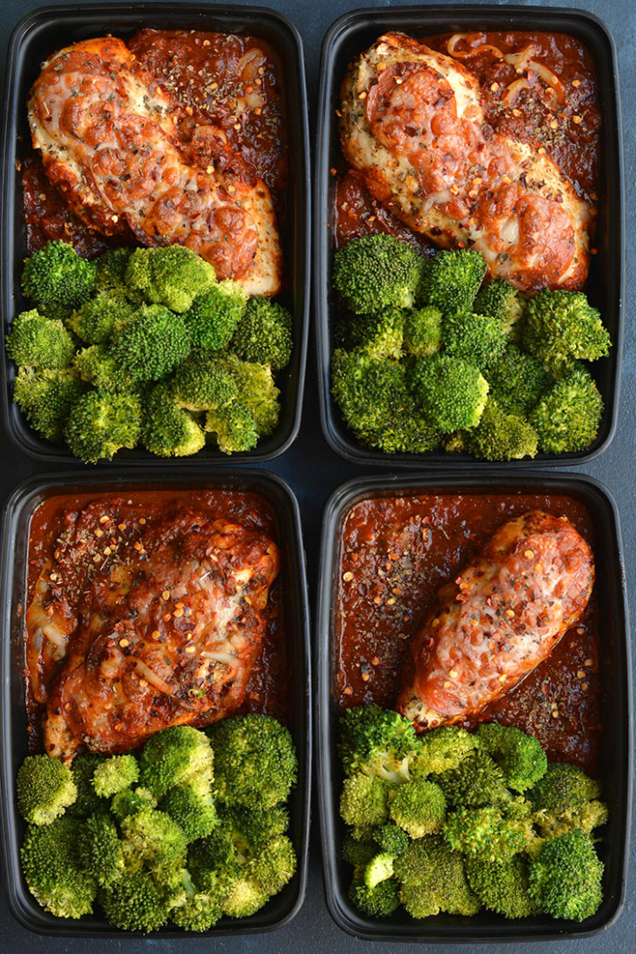 Meal Prep Pizza Chicken GF, Low Carb, Low Calorie - Skinny ..