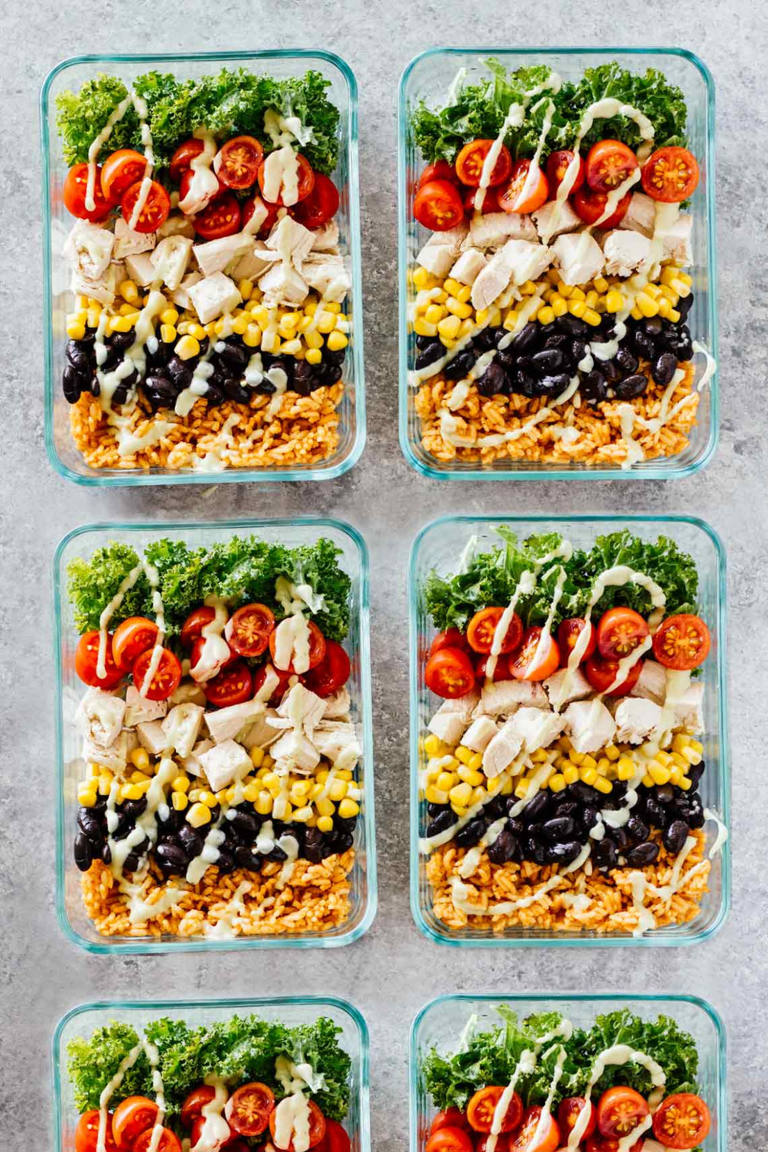 Meal Prep Southwest Chicken Burrito Bowls - meal prep recipes chicken breast
