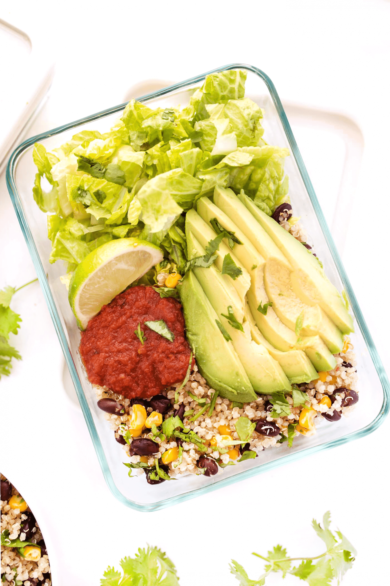 Meal-Prep Vegetarian Quinoa Burrito Bowls - Simply Quinoa - recipes vegetarian meal prep