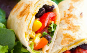 Meatless Black Bean, Egg And Corn Wraps – Vegetarian Wraps And Rolls Recipes