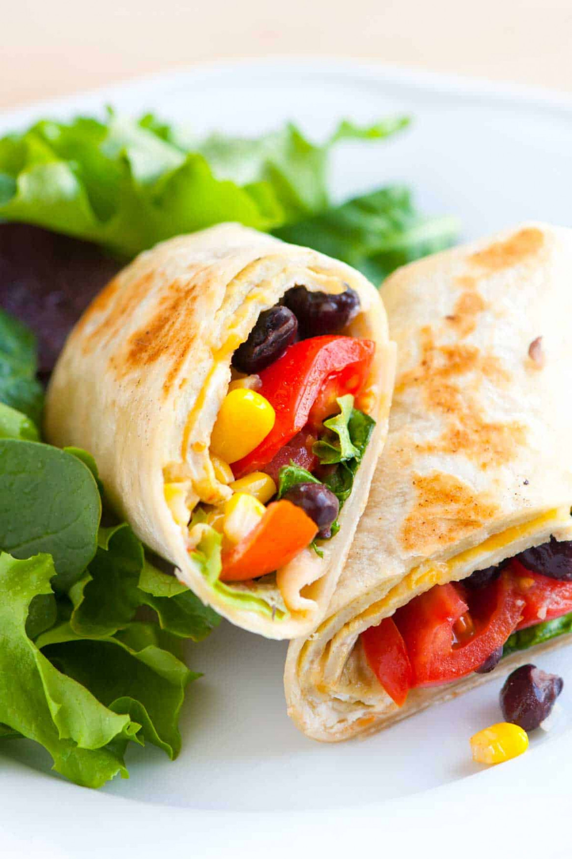 Meatless Black Bean, Egg and Corn Wraps - vegetarian wraps and rolls recipes