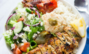 Mediterranean Chicken rice bowls | Gimme Delicious