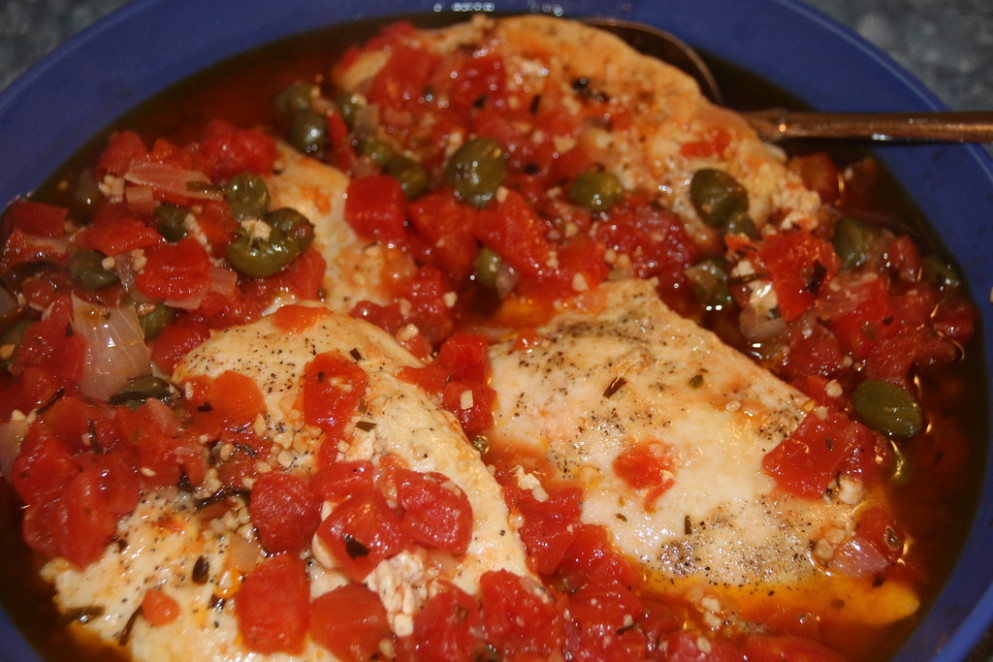 Mediterranean Chicken With Tomatoes And Capers - Recipes For Healthy Chicken Breast