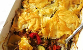 Mediterranean Filo Pie | Olive Tree Kitchen – Recipes Using Filo Pastry Vegetarian