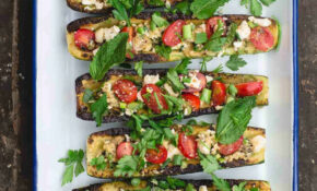 Mediterranean Grilled Zucchini Boats – Vegetarian Recipes Zucchini Tomatoes
