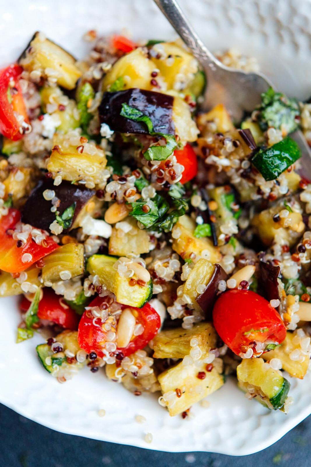 Mediterranean Quinoa Salad with Roasted Summer Vegetables - quinoa recipes vegetarian