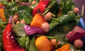 Mediterranean Roast Vegetable & Chickpea Salad – Vegetarian Mediterranean Recipes