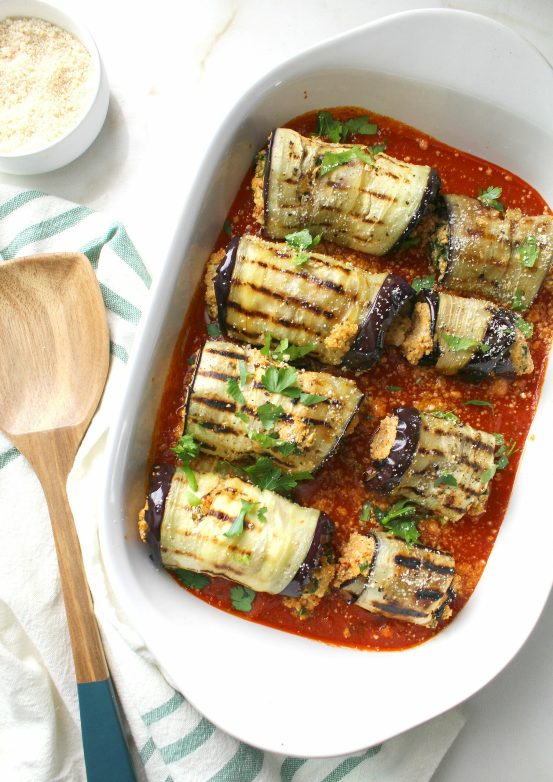 Mediterranean Vegan Eggplant Roll Ups - This Savory Vegan - recipes with eggplant healthy