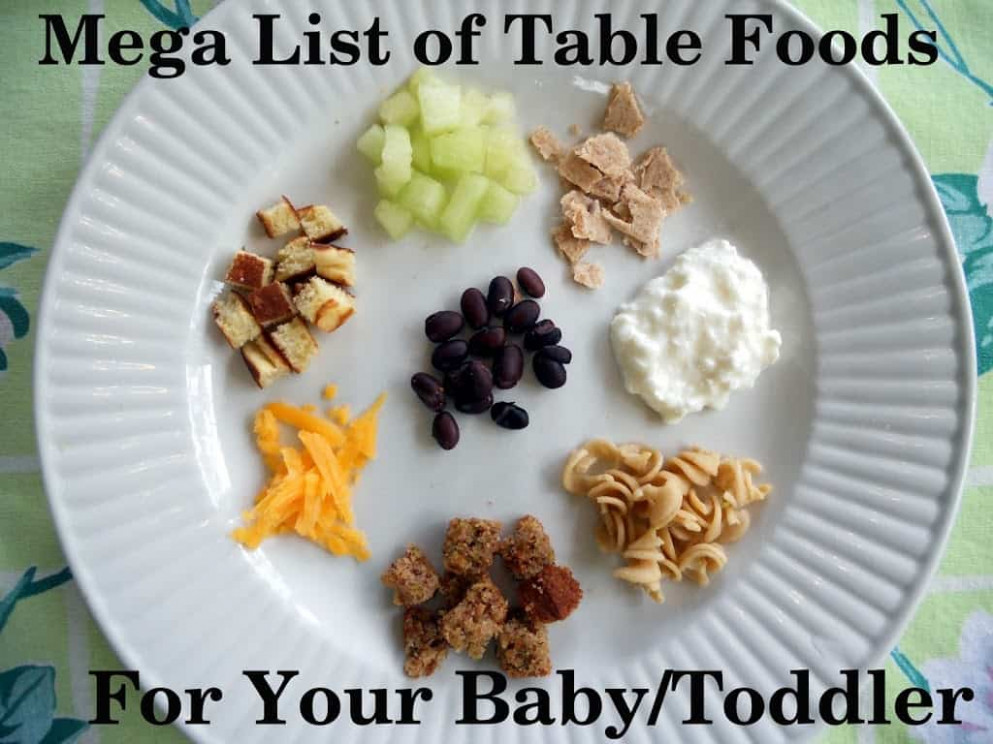 Mega List Of Table Foods For Your Baby Or Toddler - Your ..