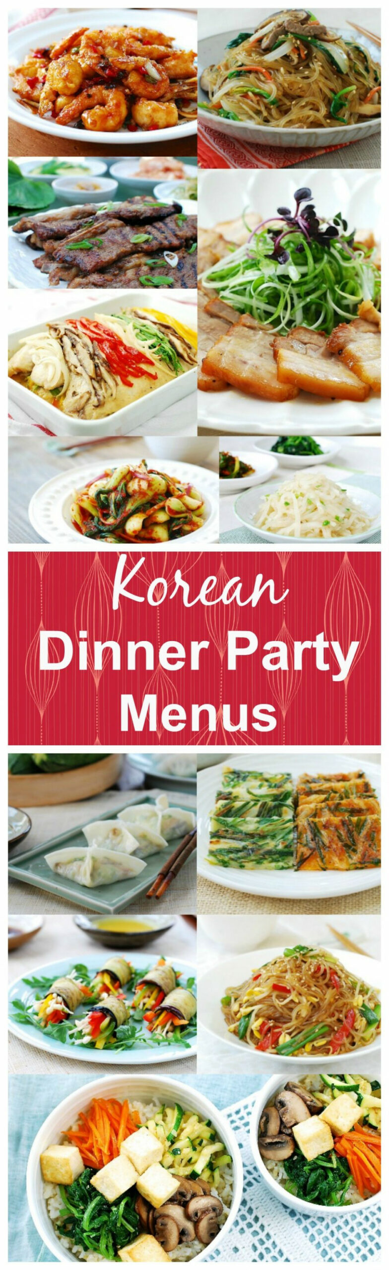 Menus for Korean Dinner Parties | Asian cooking, Dinner ..