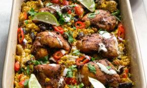 Mexican Chicken And Cauliflower Rice – Tray Bake Recipes Chicken