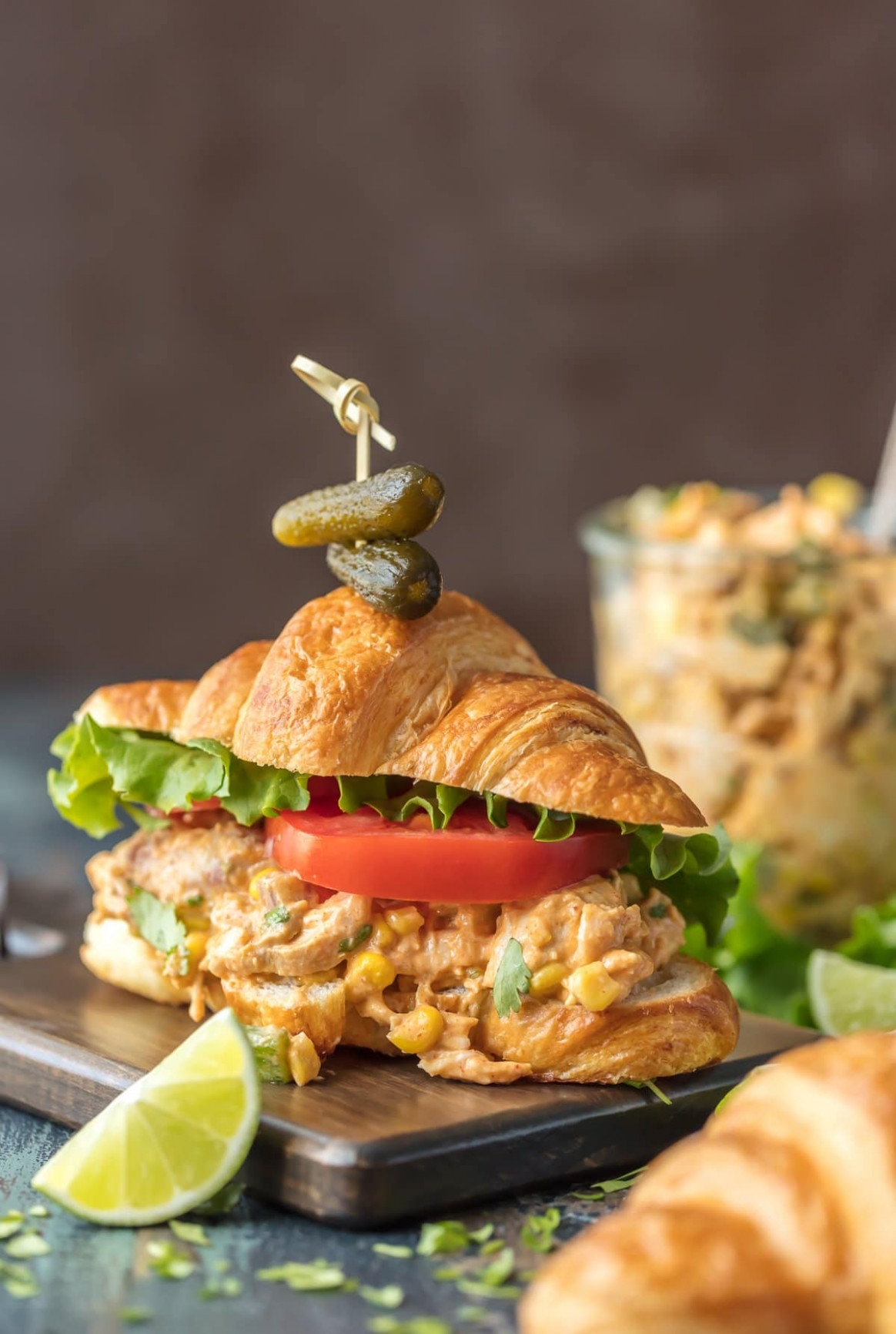 Mexican Chicken Salad Sandwiches [VIDEO!!] - The Cookie Rookie - chicken recipes breast