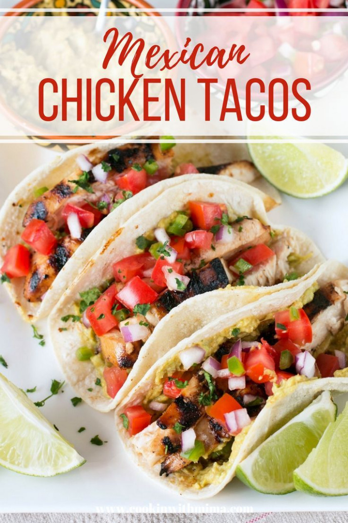 Mexican Chicken Tacos - mexican dinner recipes