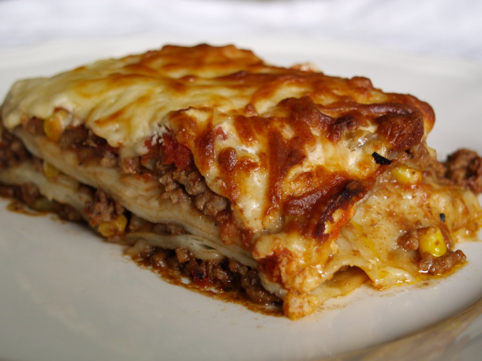 mexican lasagne - food recipe journal