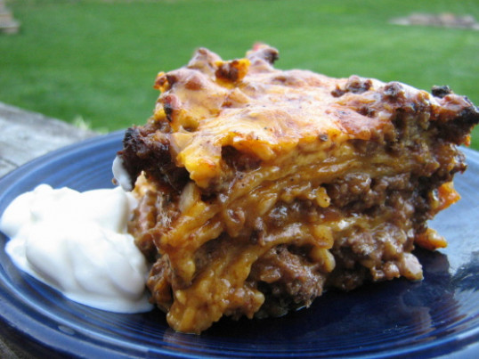Mexican Layered Ground Beef Enchiladas Recipe - Mexican ..