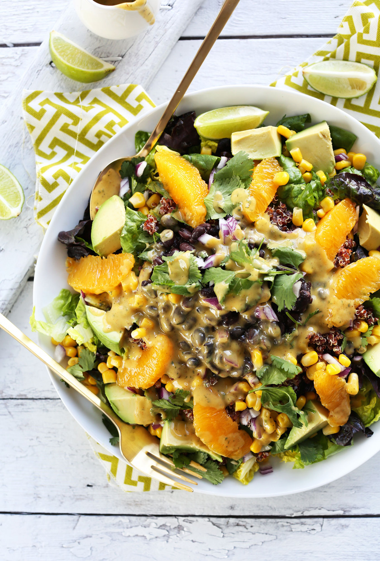 Mexican Quinoa Salad with Orange Lime Dressing - dinner recipes quinoa