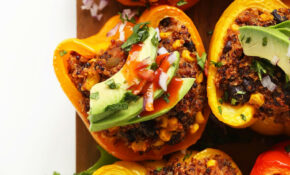 Mexican Quinoa Stuffed Peppers | Recipe | Food – Vegetarian Recipes Under 500 Calories