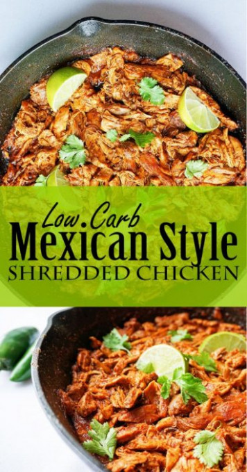 Mexican Shredded Chicken | No Crock Pot Required - KetoConnect - recipes shredded chicken