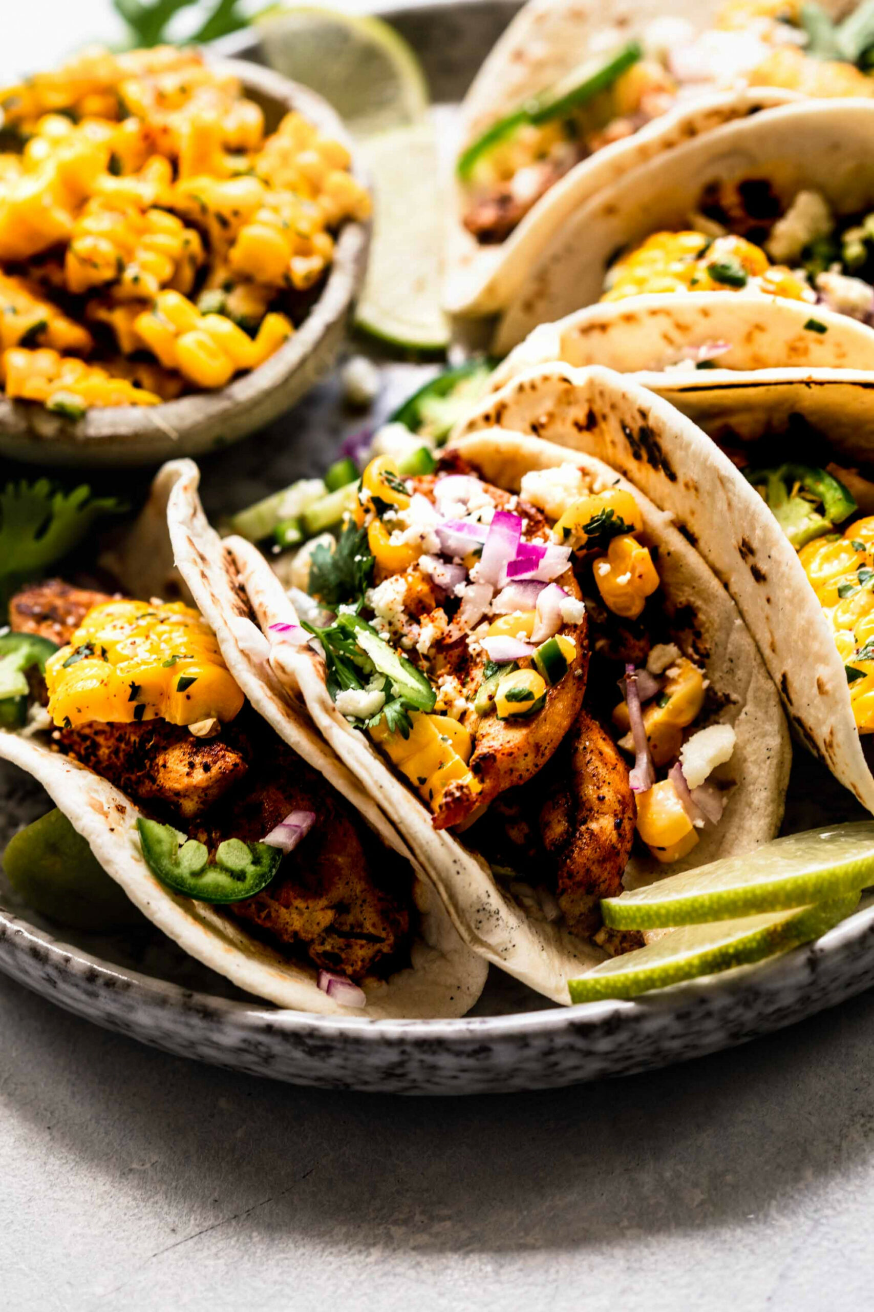 Mexican Street Corn Chicken Tacos | Platings + Pairings - mexican street food recipes