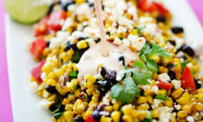 Mexican Street Corn Salad Recipe (Healthier Elote Salad) – Mexican Food Recipes With Pictures