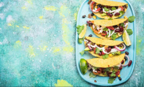 Mexican Street Food Tacos, Border Background Stock Photo ..