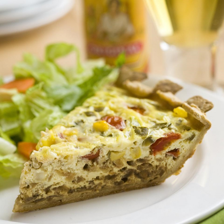 Mexican Vegetarian Quiche - Recipes Mexican Vegetarian