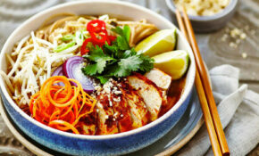 Microwave Chicken Noodle Bowl in Healthy eating recipes at ...