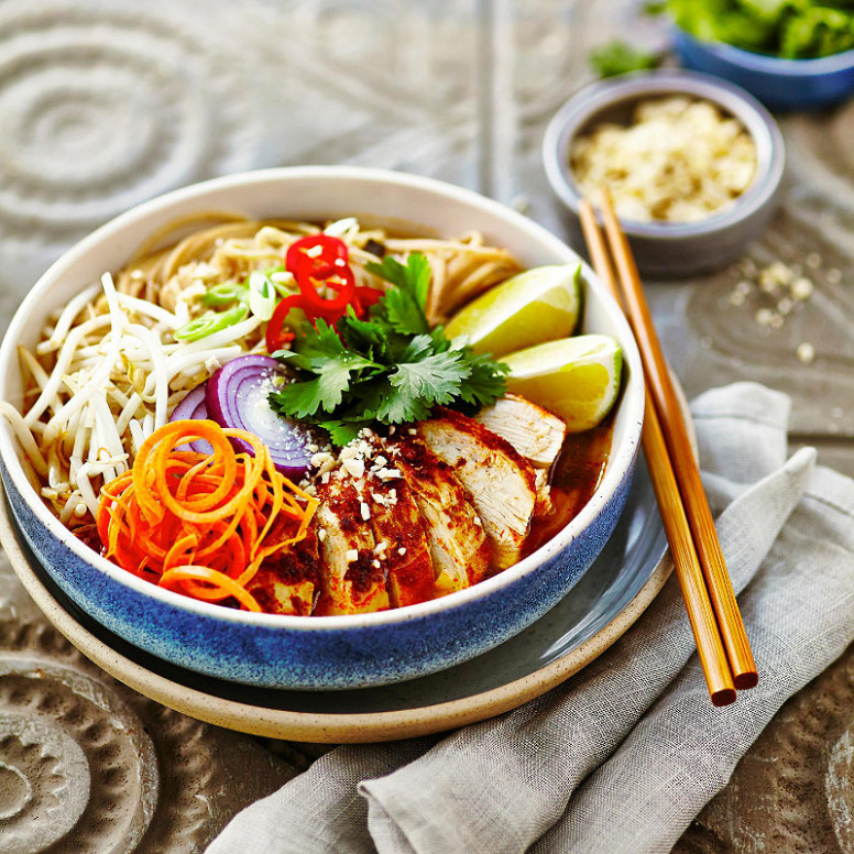 Microwave Chicken Noodle Bowl in Healthy eating recipes at ..