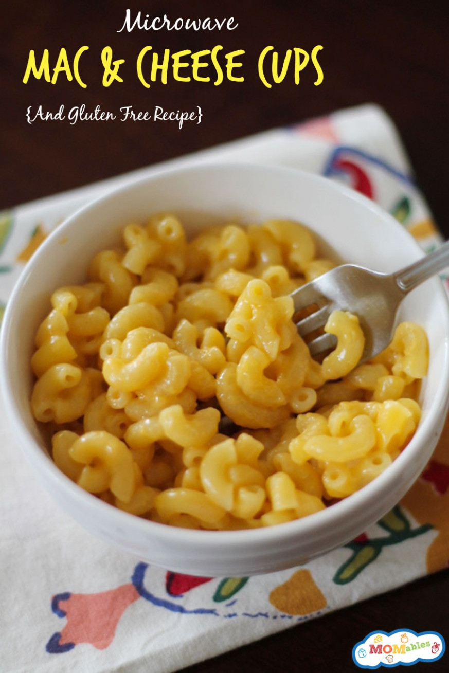 Microwave Mac & Cheese Cups (GF Version Included) - food recipes mac and cheese