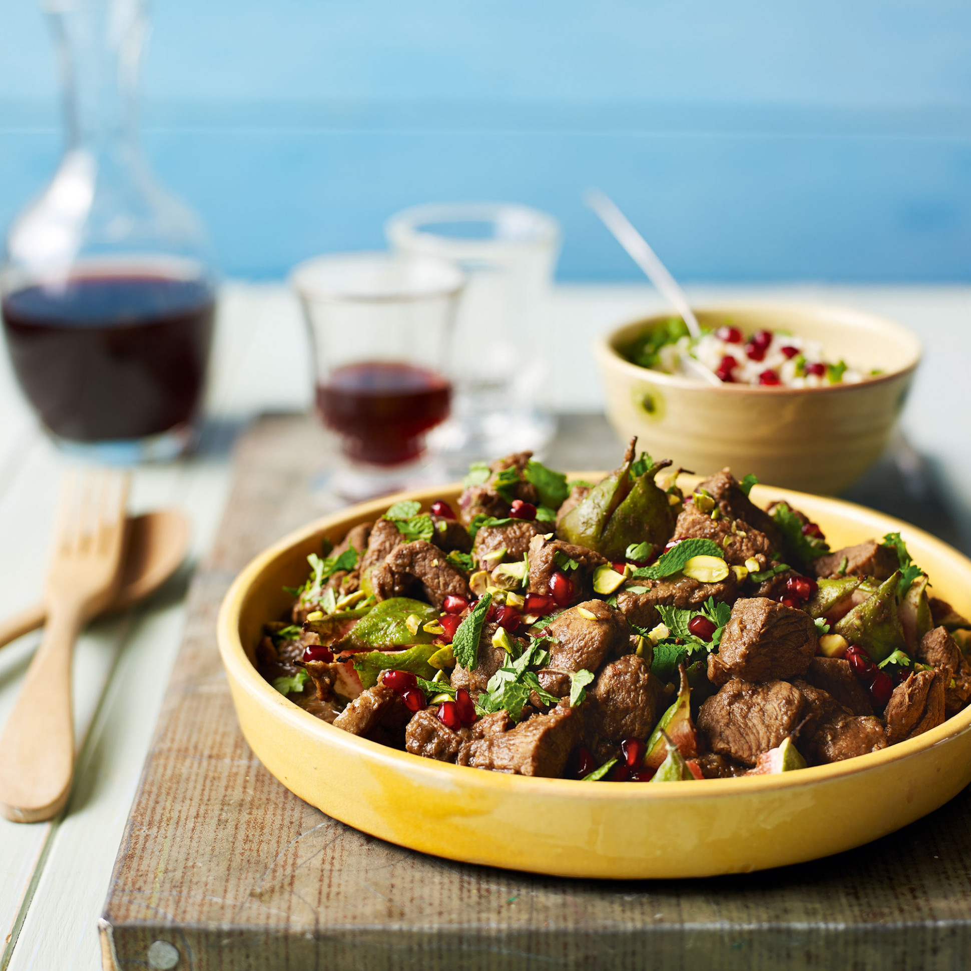 Middle Eastern Lamb with Fresh Figs - recipes lamb dinner