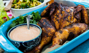 Middle Eastern Spiced Spatchcocked Chicken With Harissa Yogurt – Middle Eastern Recipes Chicken