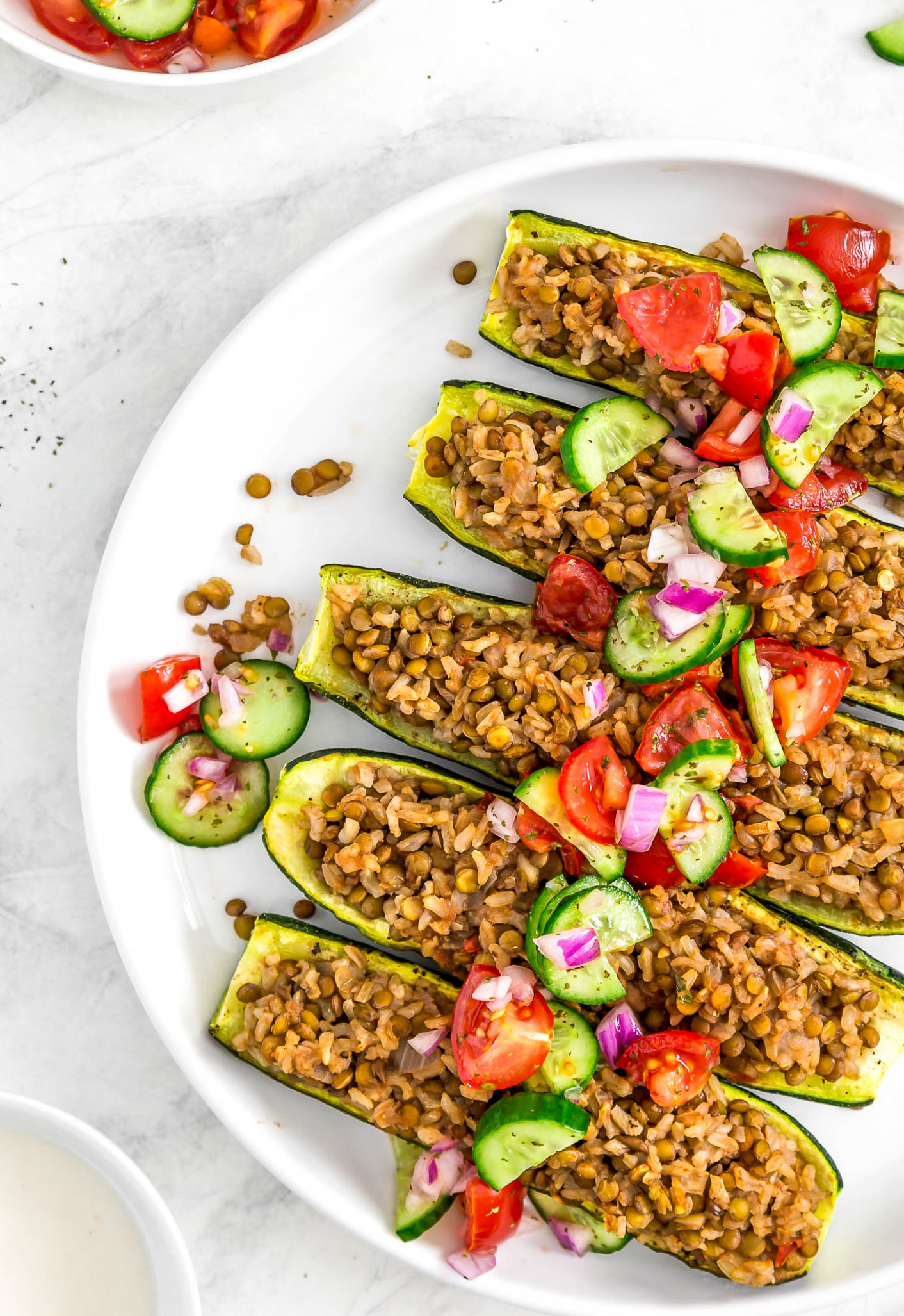 Middle Eastern Stuffed Zucchini Boats - middle eastern food recipes