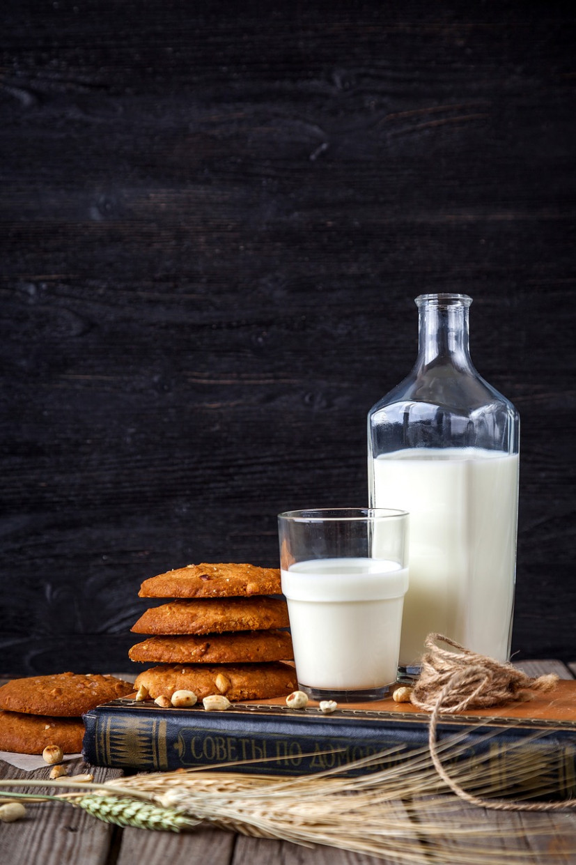Milk, Cookies, Oatmeal, Confectionery - Recipes Breakfast Healthy