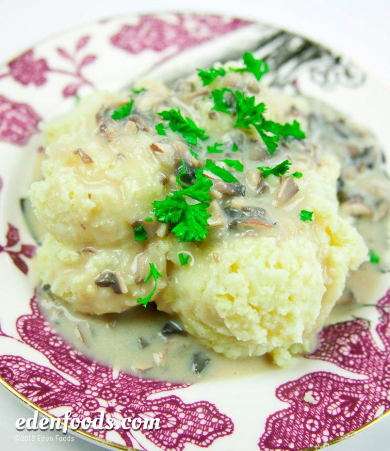 Millet Mashed Potatoes with Mushroom Gravy | Recipe ..