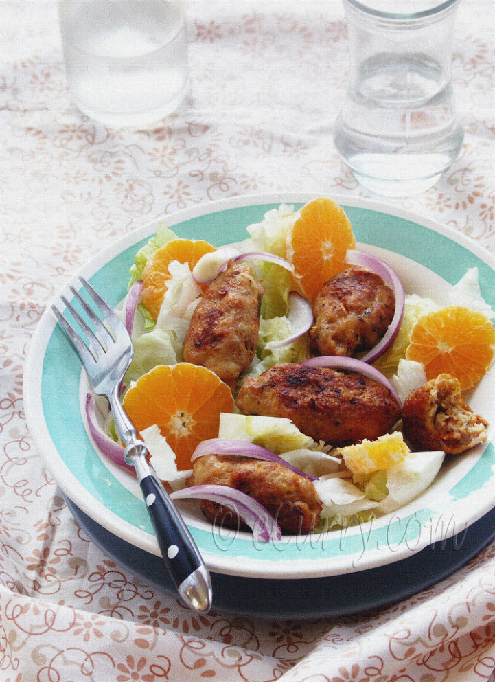 minced meat rolls Salad - middle eastern recipes chicken