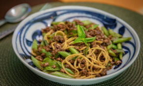 Minced Soy Lamb With String Beans And Basil Noodles – Recipes Lamb Dinner