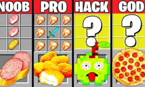 Minecraft Battle: SUPER FAST FOOD CRAFTING CHALLENGE – NOOB Vs PRO Vs  HACKER Vs GOD ~ Animation – Recipes Minecraft Food