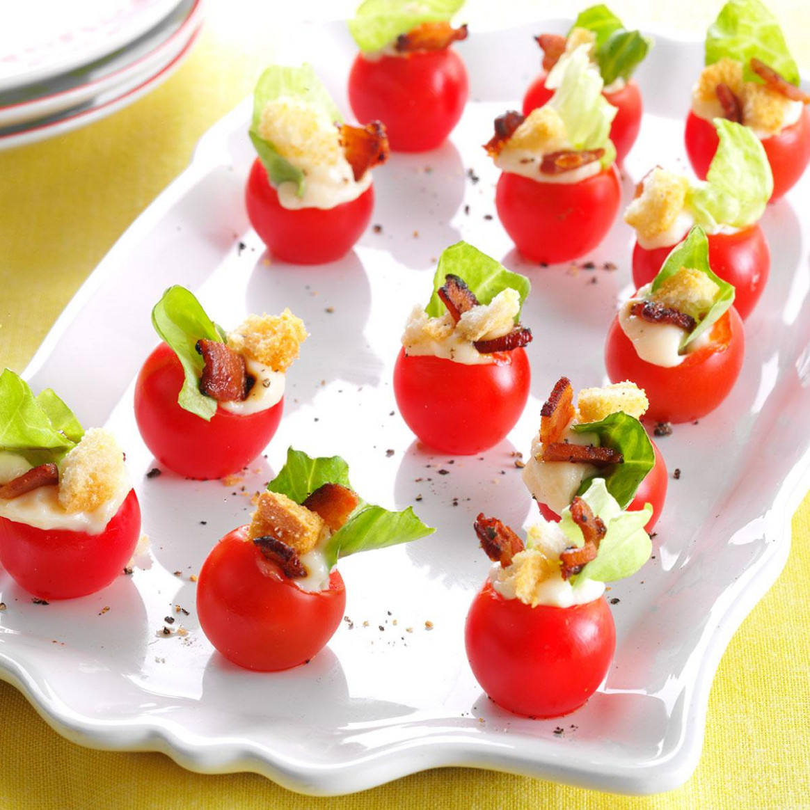 Mini BLT Appetizers | Taste of Home - recipes for finger food