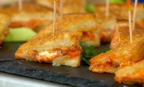 Mini Spicy Buffalo Chicken Grilled Cheese Sandwiches – Easy Finger Food Recipes For A Crowd