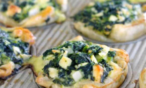 Mini Spinach Feta Pies (Spanakopita) - Bowl of Delicious