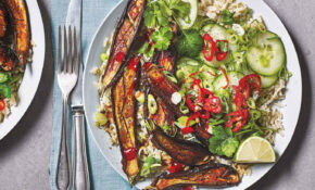 Miso Aubergine And Brown Rice Bowls – Vegetarian Rice Bowl Recipes