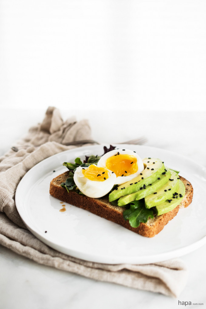 Miso Avocado Toast with Soft Boiled Egg - recipes healthy vegetarian